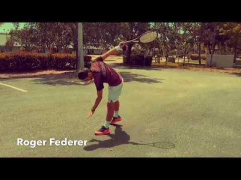 Tennis player imitations