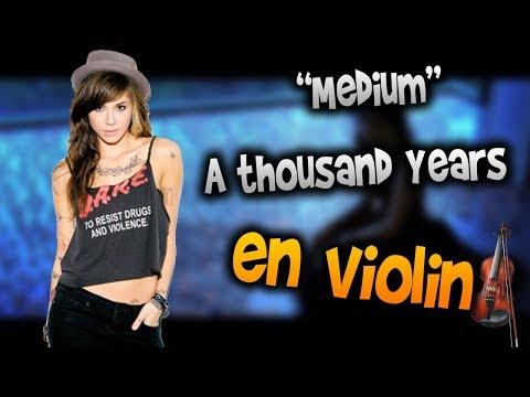 A thousand Years en Violíntab,tutorial,partitura,como tocarHD Tutorial