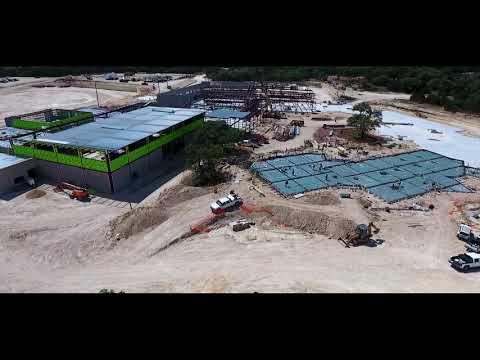 Building in Full View - Relaxing Jobsite Drone Footage - Pieper Ranch Middle School