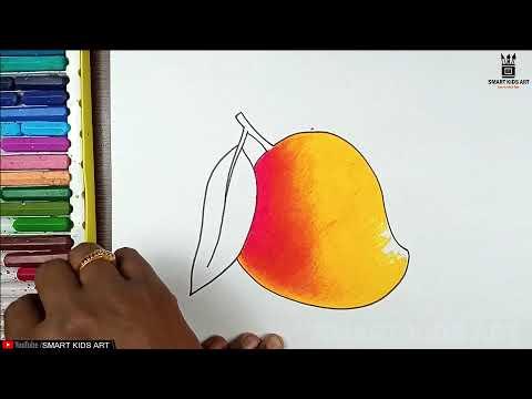 How To Draw Mango   Mango Drawing   Mango   National Fruit of India   Smart Kids Art