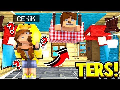 TERS EVİN İÇİNDE SAKLAMBAÇ OYNADIK - Minecraft Saklambaç thumbnail