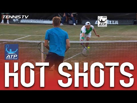 Lucas Pouille's Match Point Save Hot Shot Stuttgart 2017