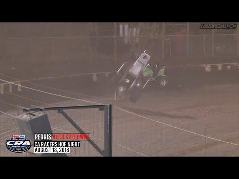 "USAC/CRA ""CA Racers HoF Night"" Highlights | Perris Auto Speedway 8.18.18"