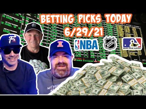 Live Sports Betting Picks 6/29/21 - NBA Playoffs, MLB and NHL Playoff Picks