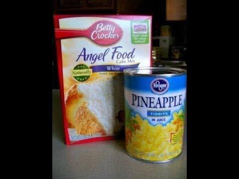 Try this 2 Ingredient Pineapple Angel Food Cake
