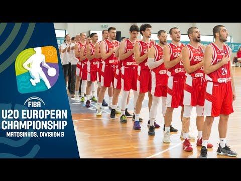 Kosovo V Georgia - Full Game - FIBA U20 European Championship Division B 2019