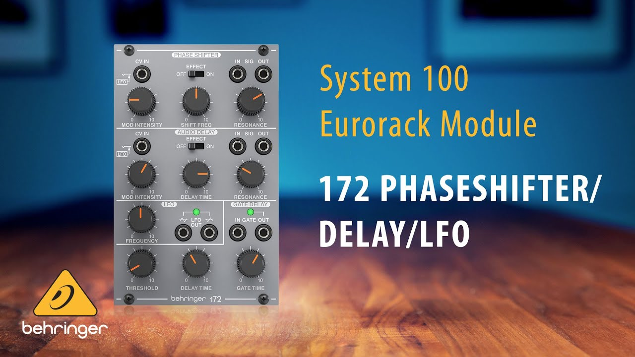 Behringer System 100 – 172 Phase Shifter / Delay / LFO Eurorack Module