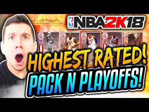NEW BEST DRAFT! NBA 2K18 MyTEAM PACK N PLAYOFFS HIGHEST RATED DRAFT!