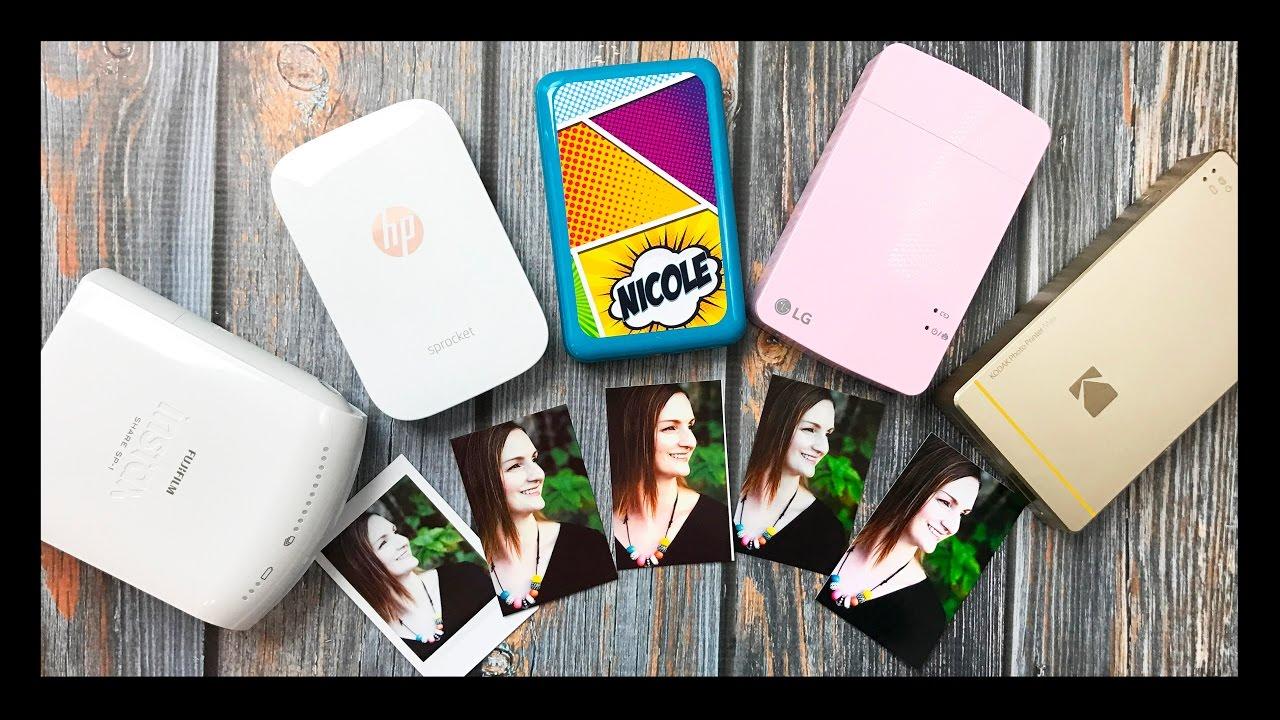 Mini Photo Printer Comparison Lg Pocket Polaroid Zip