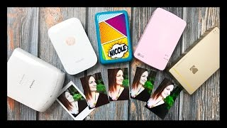 mini photo printer comparison   lg pocket polaroid zip kodak mini printer fujifilm hp