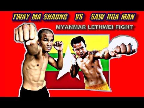 Myanmar Lethwei - Tway Ma Shaung vs Saw Nga Man - Clash of the Lethwei Titans
