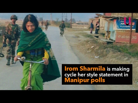 Manipur Assembly Elections:  Irom Sharmila cycling for Manipur Elections