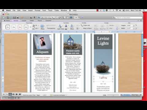 How To Create A TriFold Brochuremp YouTube - Tri fold brochure template open office