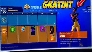 BE PALIER 100 to 'SAISON 8' FREE TO WHAT on FORTNITE PS4/XBOX ONE/PC