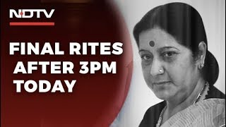 Sushma Swaraj To Be Cremated With State Honours Today Hundreds Pay Tributes