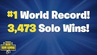 #1 World Record 3,473 Solo Wins | Fortnite Live Stream
