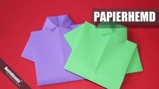 Papierhemd falten / Hemd / shirt / Origami