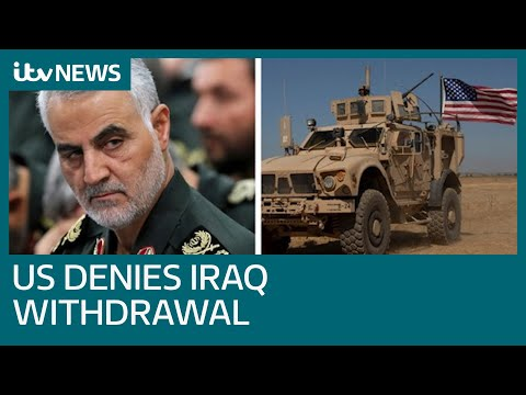 US denies Iraq troop withdrawal despite letter suggesting it will | ITV News