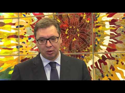 Aleksandar Vučić o najavljenoj kandidaturi Đilasa i huliganima iz Hrvatske 15.12.2017.