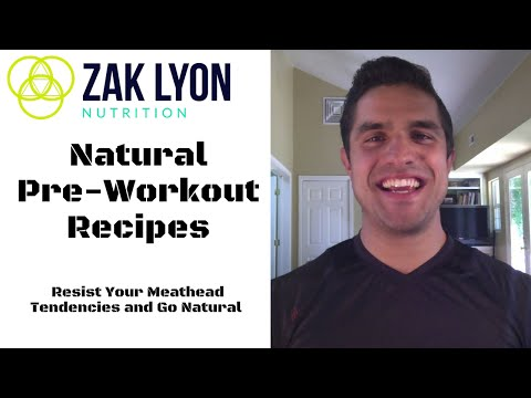 Natural Pre Workout Recipes and Energy Drinks   Zak Lyon Nutrition