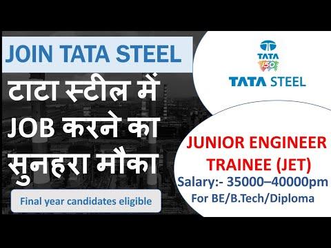 Tata Steel Recruitment for Junior Engineer Trainee (JET) - 2020 Batch