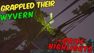 ARK Official PVP   Grappled their Wyvern !!! + PVP Highlights   ep. 26