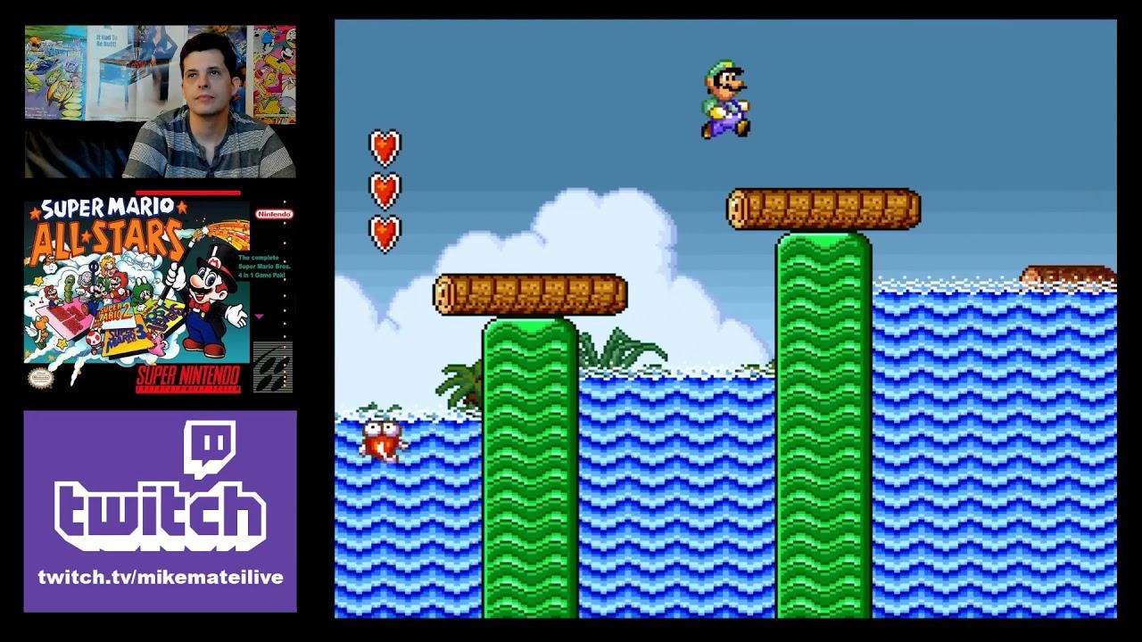 Super Mario Bros 2 Snes 1993 Luigi Only Youtube