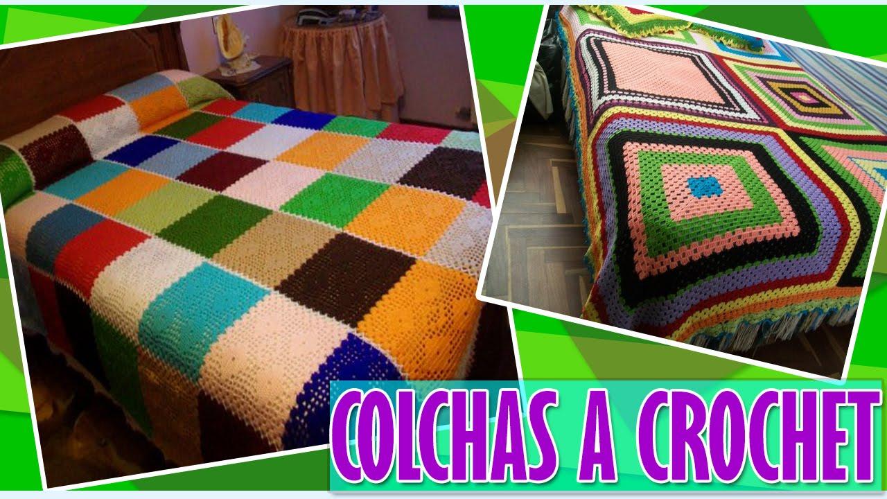 Colchas y Cubre Camas Tejidos a Crochet - YouTube