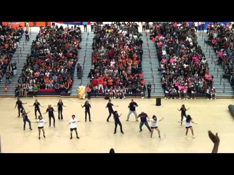 Surprise Teachers Dance for Homecoming Rally at Citrus Hill High School, Perris, CA, Oct 16, 2015