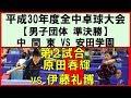 【卓球全中】原田春輝(中間東)vs伊藤礼博(安田学園) 平成30年度全国中学校卓球大会 …