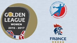 France VS Russie Handball Golden League féminine 2016 2017 2e tour