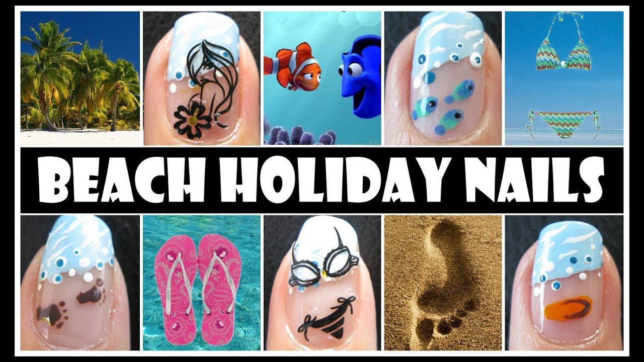 beach nail art design summer