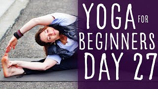 30 Minute Yoga For Beginners 30 Day Challenge Day 27 with Fightmaster Yoga