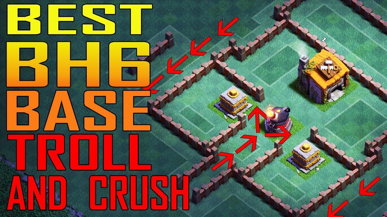 Best Bh6 Base Builder Hall 6 Base Layout Design Bh6