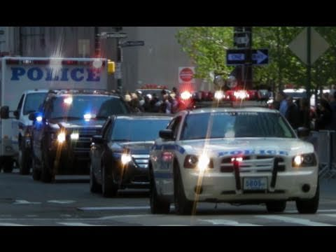 Secret Service Suburban and NYPD Vehicles in New York for ...