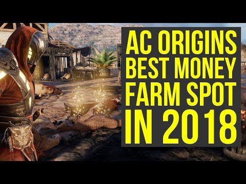 Assassin's Creed Origins Money Farm Spot 2018 - BEST WAY TO GET MONEY (AC Origins Money Farm)