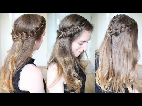 3 Pretty Half Down Braided Hairstyles