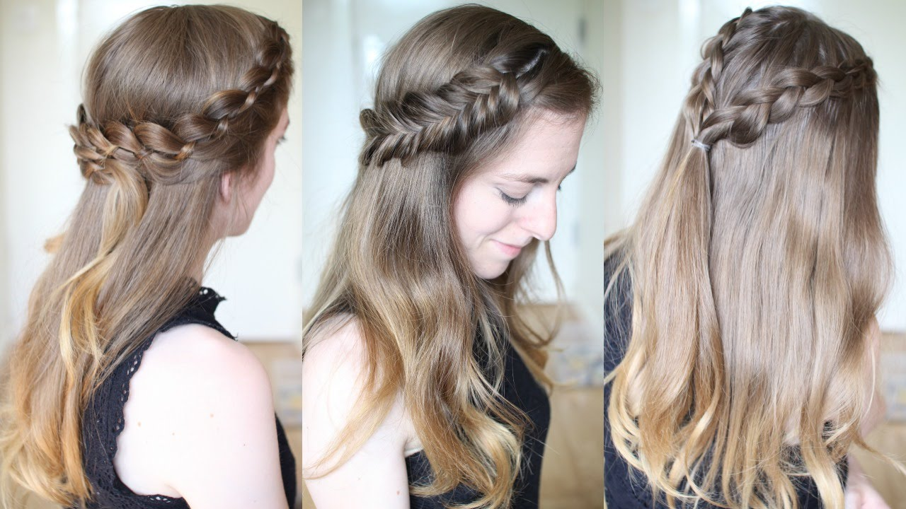 Braid Hair Style Interesting 3 Pretty Half Down Braided Hairstyles  Half Down Hairstyles .