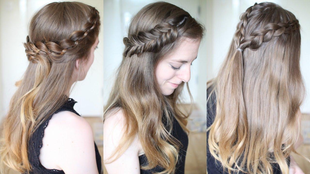 3 pretty half down braided hairstyles | half down hairstyles | braidsandstyles12