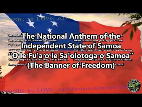 Samoa National Anthem with music, vocal and lyrics Samoan w/English Translation