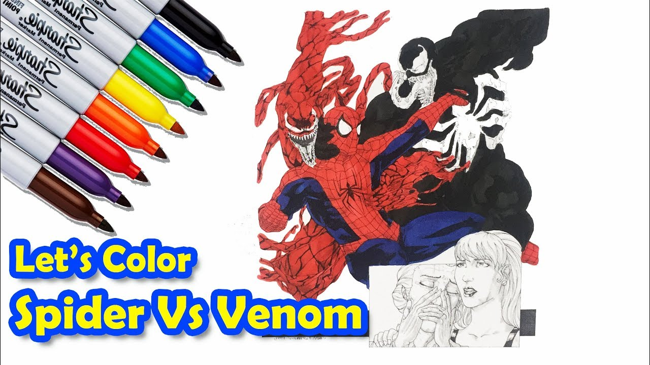 Spider bites coloring pages Coloring pages spiderman and venom ... | 720x1280
