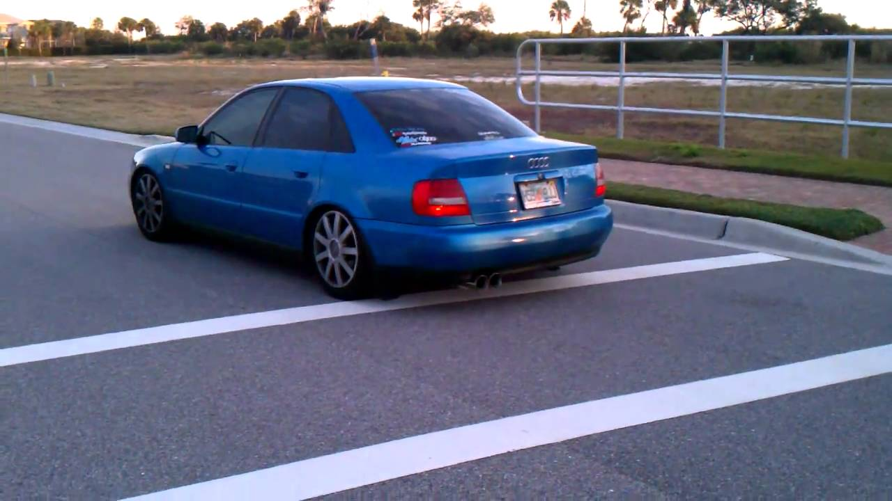 B5 Audi A4 1.8T Quattro Techtonics and Magnaflow Exhaust - YouTube