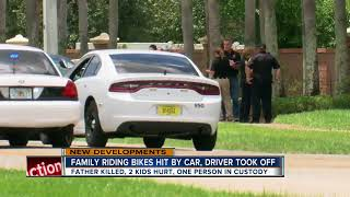 Family riding bikes hit by car, driver took off