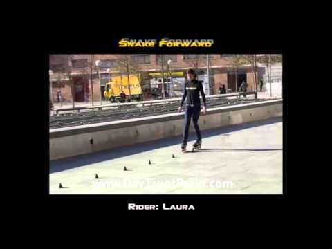 Slalom Tricks - Bài 1 - Kỹ thuật trượt patin lượn cốc Snake forward - www.DayTruotPatin.com