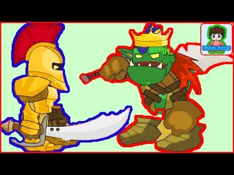sword and souls  мультик игра для детей Про воина Мечи и души От фаника 5. Сражение с рыцарем  Босс