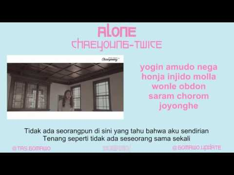 CHAEYOUNG TWICE - ALONE (Cover from Dalchong) [MV & EASY LYRIC ROM+INDO]