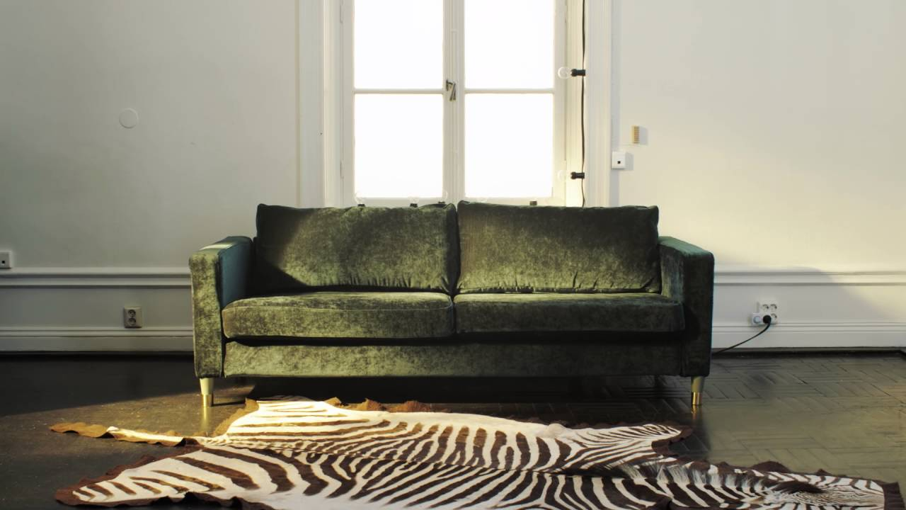 Elevate Your Ikea Karlstad Sofa With A Velvet Bemz Cover