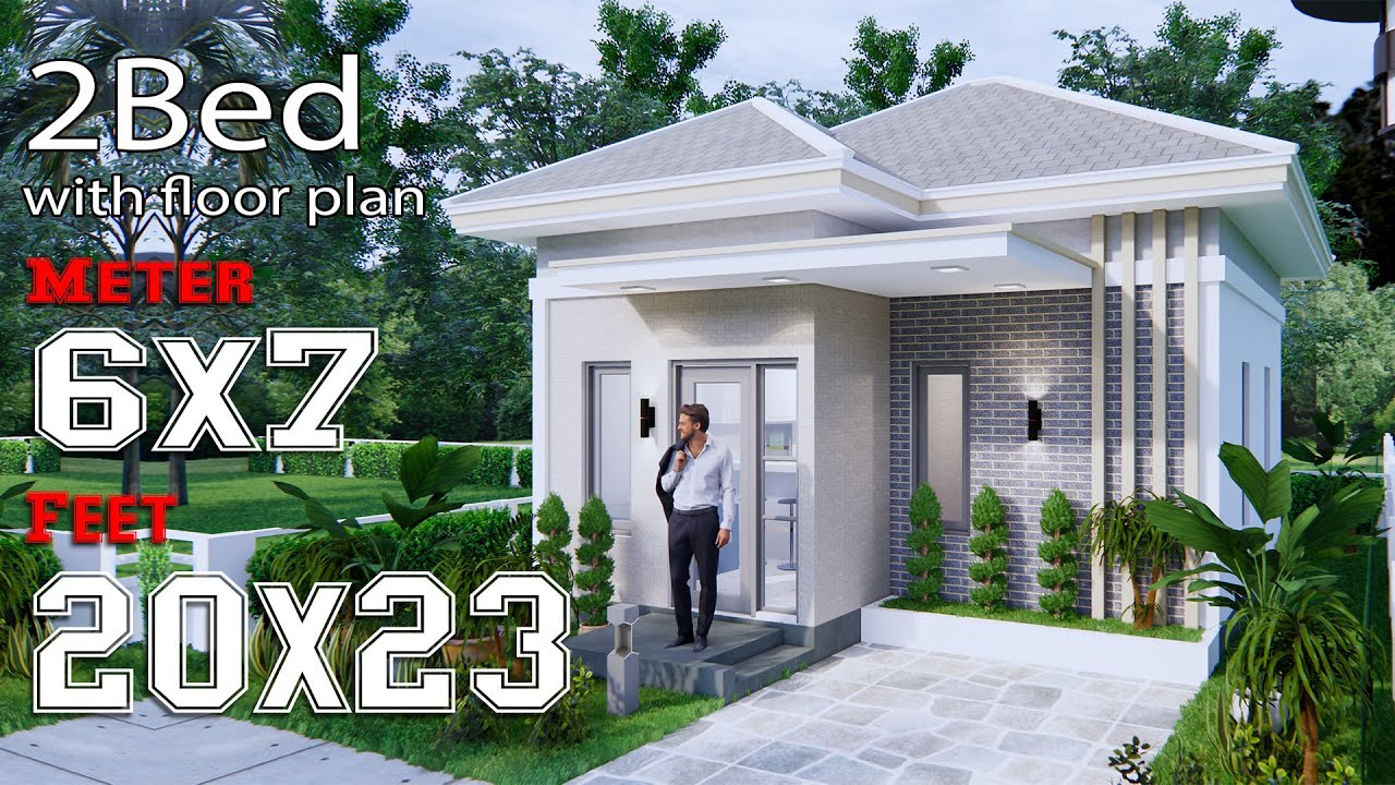 Small House Design 6x7m 20x23f Hip Roof Full Plans Youtube