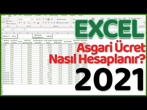 2021 Asgari Ücret Hesabı | Excel'de Asgari Ücret Nasıl Hesaplanır?