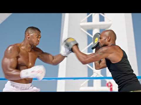 Anthony Joshua boxing in highest ring in the world